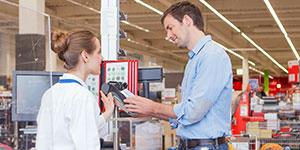 Kartenzahlung im Einzelhandel